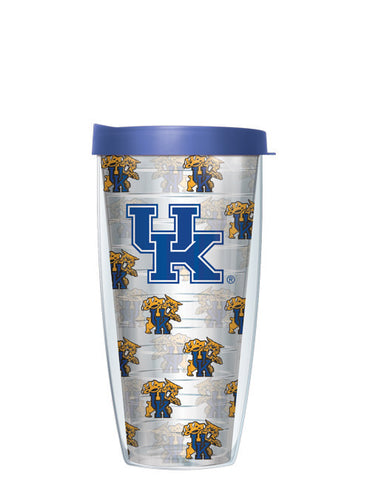University of Kentucky - Repeat Logo on Clear Pattern