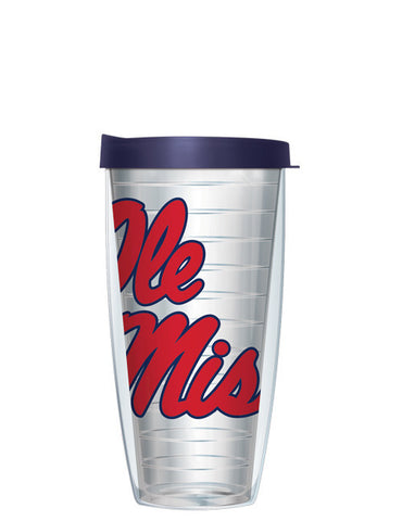University of Mississippi - Large Logo on Clear Pattern