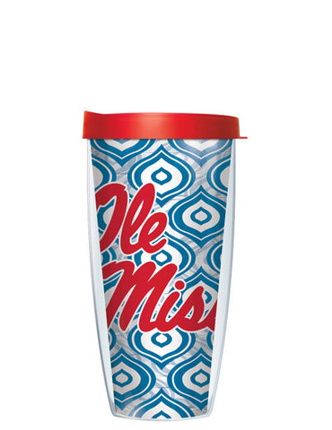 University of Mississippi - Clear Color Drops Option B with Red Lid