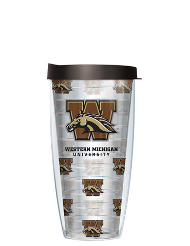 Western Michigan University - Repeat Logo on Clear Pattern