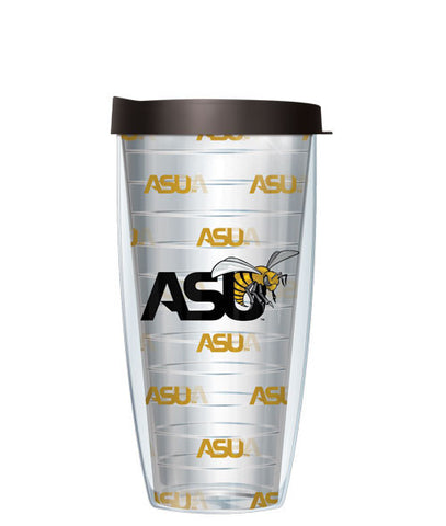 Alabama State University - Logo Pattern on Clear with Black Lid