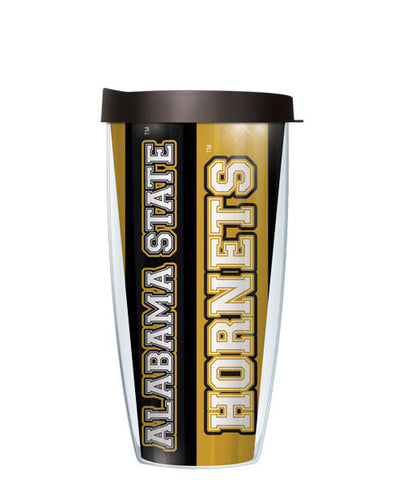 Alabama State University - Vertical Stripes with Black Lid