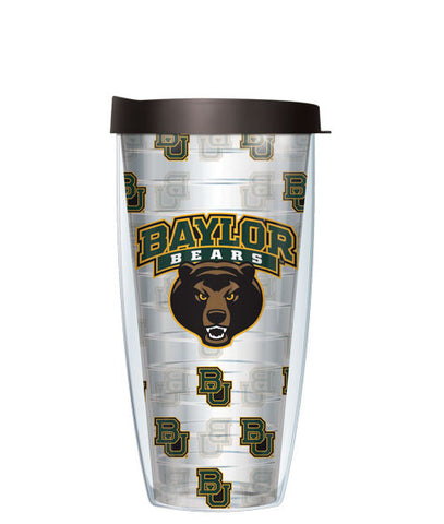 Baylor University - Logo Pattern on Clear with Black Lid