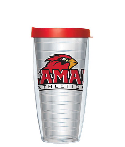 Lamar University - Logo on Clear with Red Lid