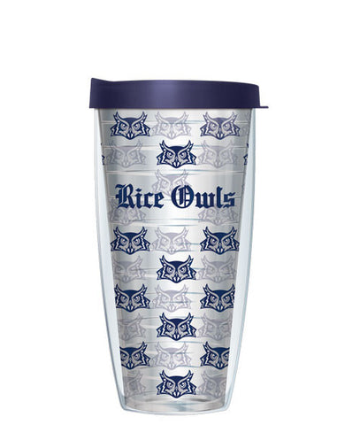 Rice University - Logo Pattern on Clear with Navy Lid