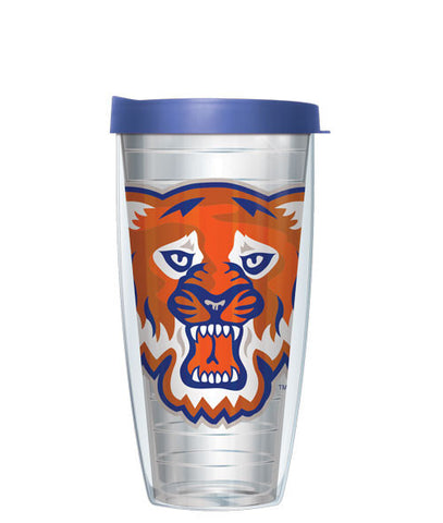 Sam Houston State University - Logo on Clear with Blue Lid