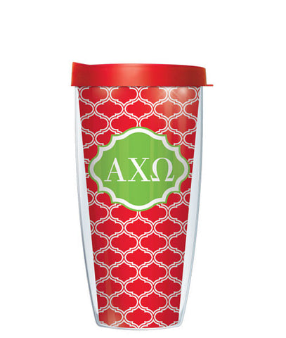 Alpha Chi Omega - Duofoil Pattern with Red Lid