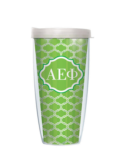 Alpha Epsilon Phi - Clear Duofoil with Clear Lid