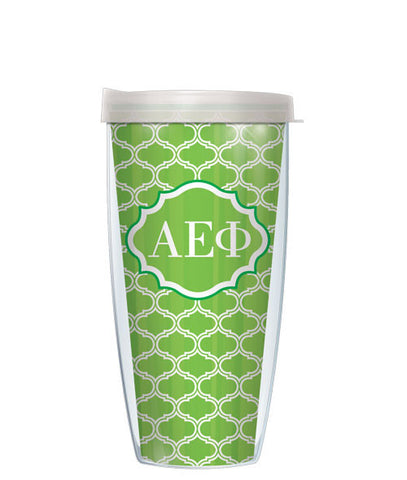 Alpha Epsilon Phi - Duofoil Pattern with Clear Lid