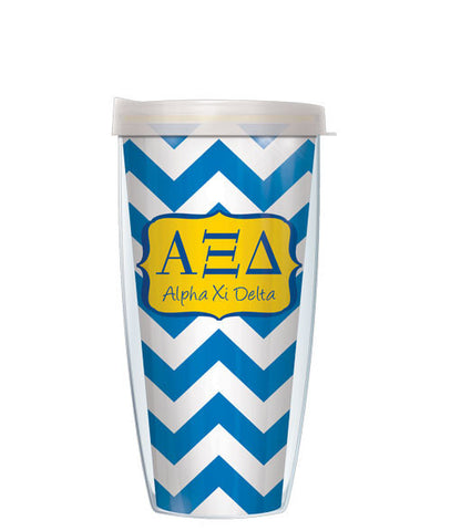 Alpha Xi Delta - Chevron with Clear Lid