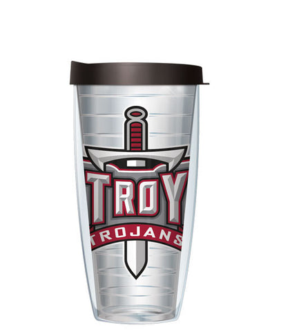 Troy University - Logo on Clear with Black Lid