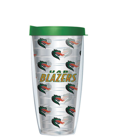 University of Alabama - Birmingham - Logo Pattern on Clear with Green Lid
