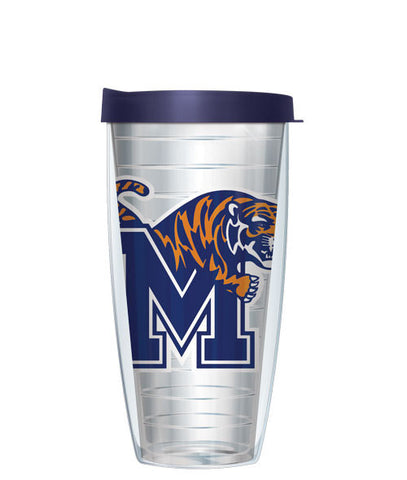 University of Memphis - Logo on Clear with Navy Lid