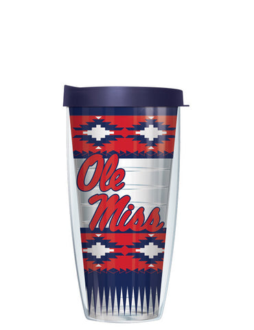 University of Mississippi - Boho Pattern with Navy Lid