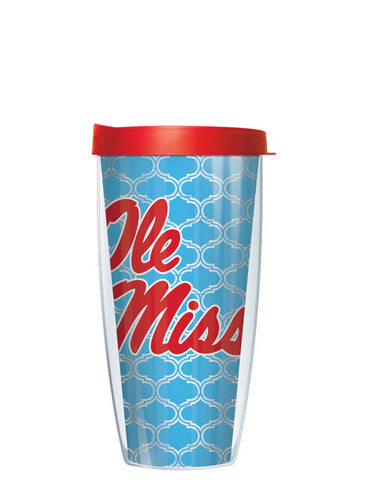 University of Mississippi - Clear Duofoil Pattern with Red Lid