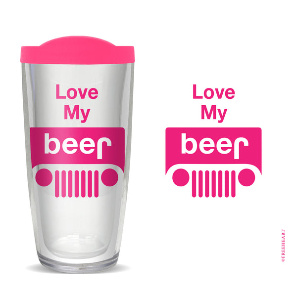Love My Beer Tumbler