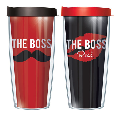 Boss & Real Boss 16oz Tumbler Set with Lids