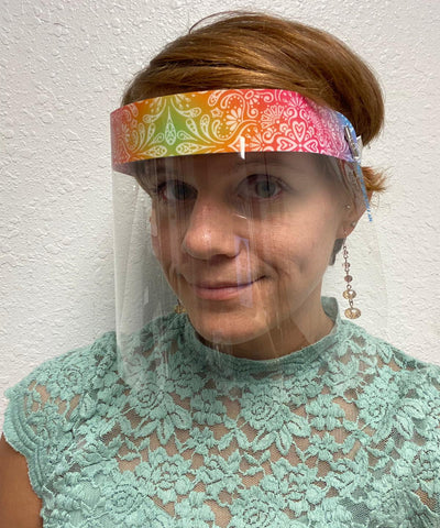 Boho Face Shield with Foam