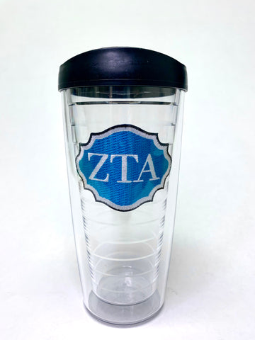 Zeta Tau Alpha Emblem with Black Lid
