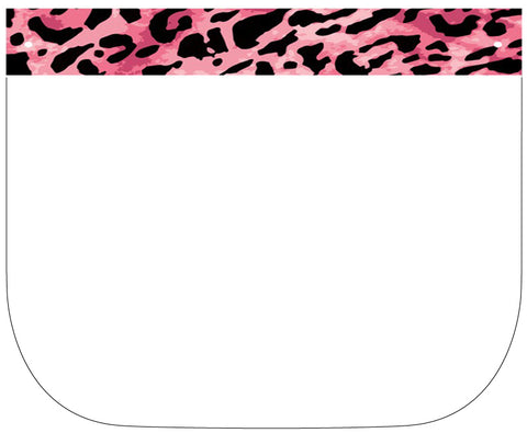 Pink Leopard Print Face Shield with Foam