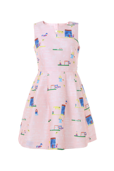 Lilly Pastel Pink Dress - AETERNA STYLE  - 1