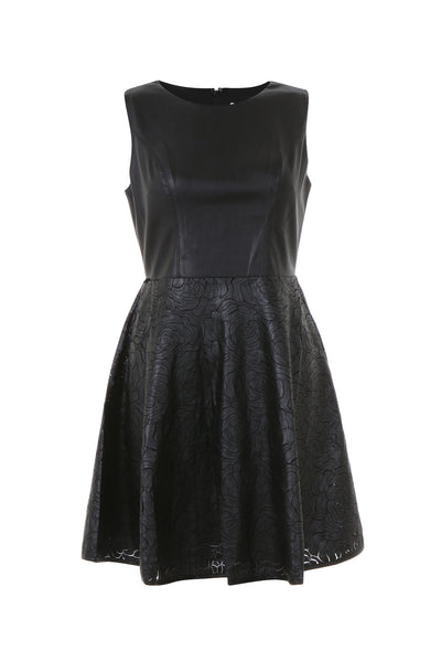 Raquel Faux Leather Dress - AETERNA STYLE  - 1