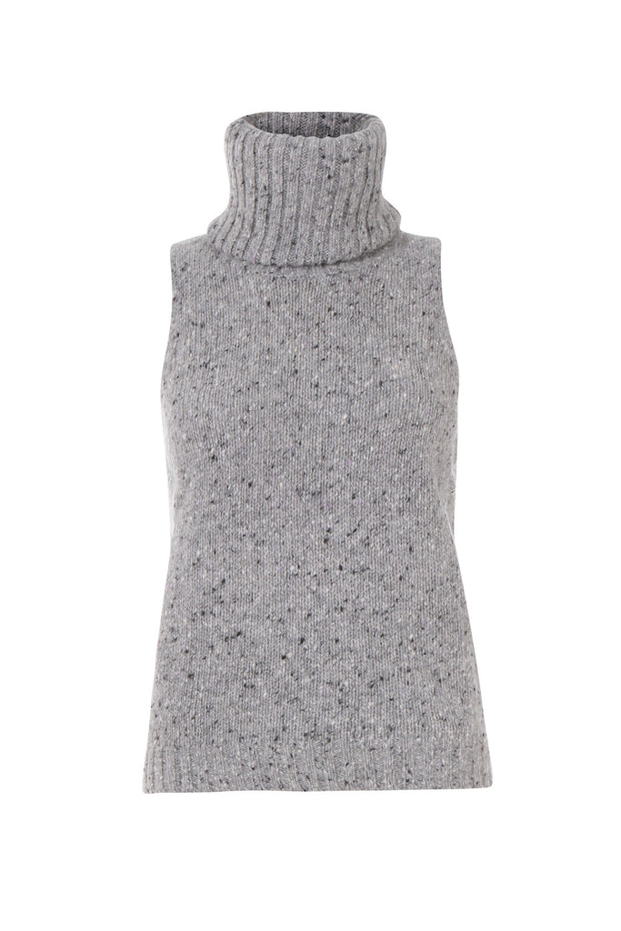 Custommade DK | Grey Asla Merino wool turtleneck sweater | AETERNASTYLE.COM