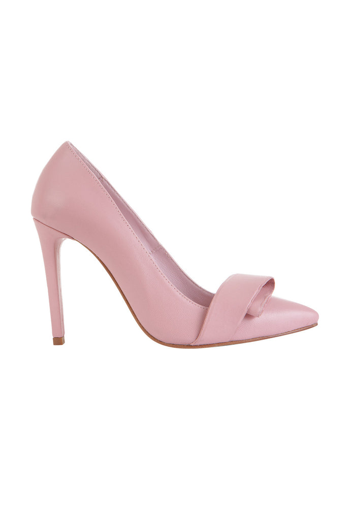 Pastel pink leather pumps - AETERNA STYLE  - 1