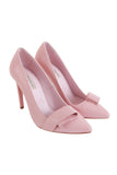 Pastel pink leather pumps - AETERNA STYLE  - 2