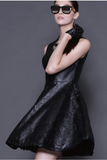 Raquel Faux Leather Dress - AETERNA STYLE  - 4
