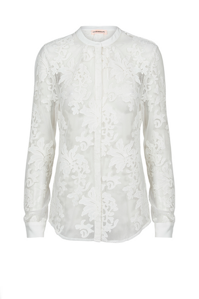Custommade DK | Philina White Lace Shirt | AETERNASTYLE.COM