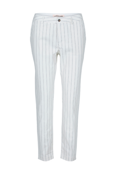 Custommade Dk | Hailey Pinstriped White Pants | AETERNASTYLE.COM