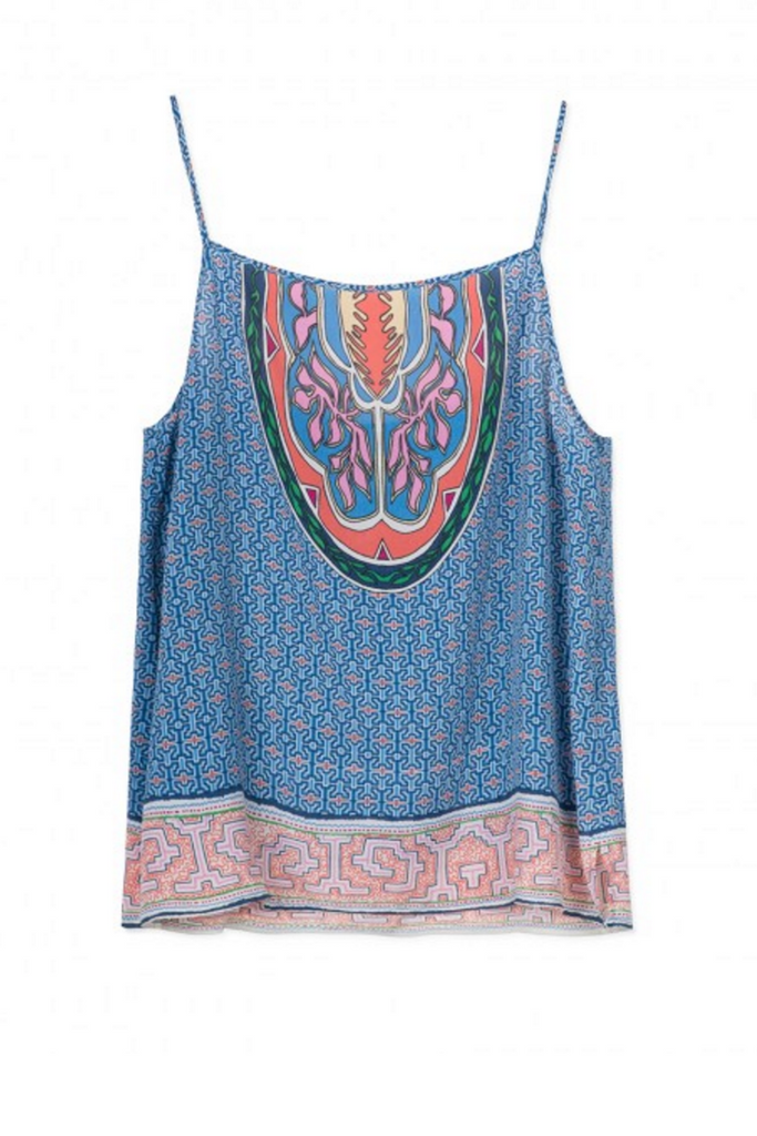 Sack's Fashion | Blue  printed camisole | AETERNASTYLE.COM