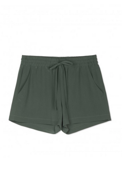 Sack's Fashion | Noa green silk shorts | AETERNASTYLE.COM
