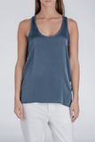 Sack's Fashion | Ellison navy silk tank top | AETERNASTYLE.COM