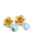 Jolie Earrings in Turquoise - AETERNA STYLE  - 1
