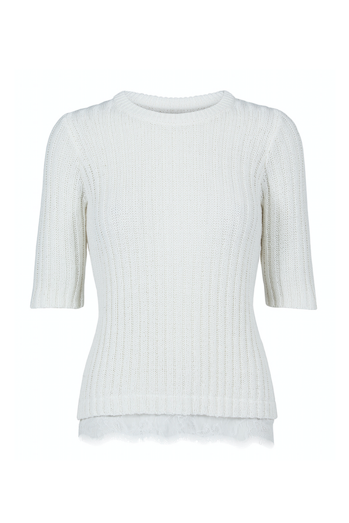 Custommade DK | White Dara Lace Sweater | AETERNASTYLE.COM