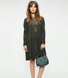 SACK'S FASHION | Sophia drop waist green dress | AETERNASTYLE.COM