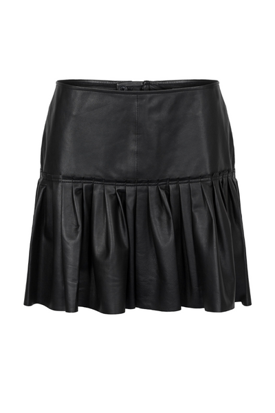 Custommade DK | Jasmia Leather Mini Skirt | AETERNASTYLE.COM