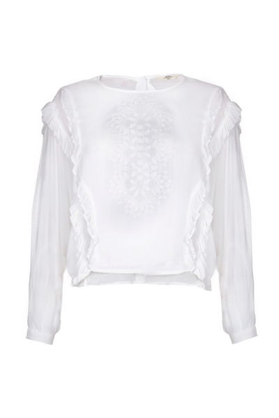Sack's Fashion | Kimberly Ruffle Blouse | AETERNASTYLE.COM