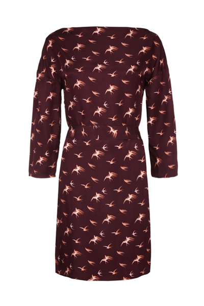 SACK'S FASHION | Lyra Printed Wrap Dress | AETERNASTYLE.COM