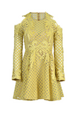 Thurley dresses on Sale | Lace Yellow Mini Dress | AETERNASTYLE.COM