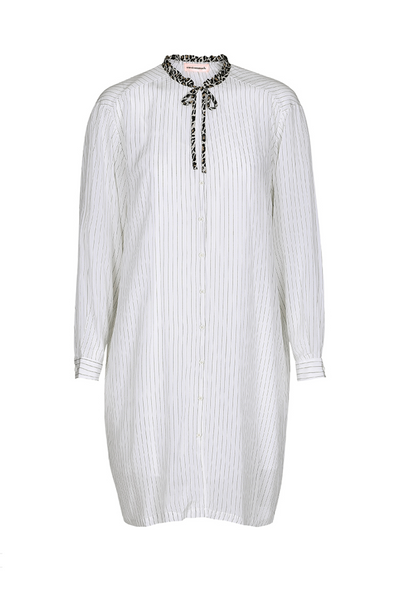 Custommade DK Uk Stockist | Ajana White Silk Shirt Dress | www.AeternaStyle.com