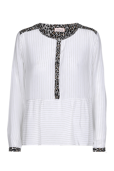 Custommade DK | UK Stockist | Agla White Silk Blouse |  www.AETERNASTYLE.com