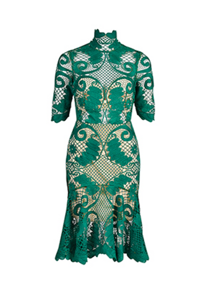 Thurley | Babylon Green Dress | AETERNASTYLE.COM