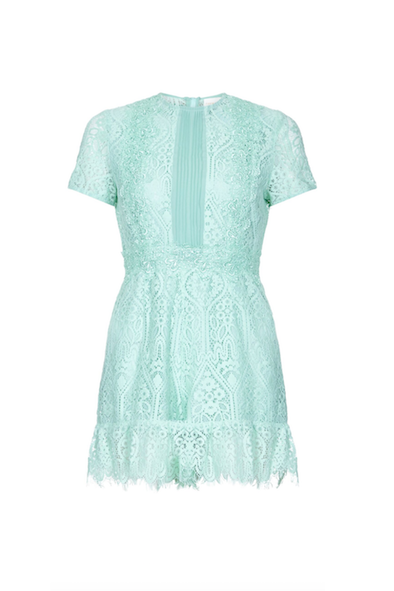 FoxieDox UK Online | Mint lace Playsuit | AETERNASTYLE.COM