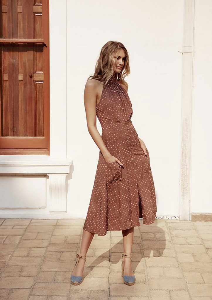 Paddo to Palmy | Toulouse Polka Dot Dress | AETERNASTYLE.COM