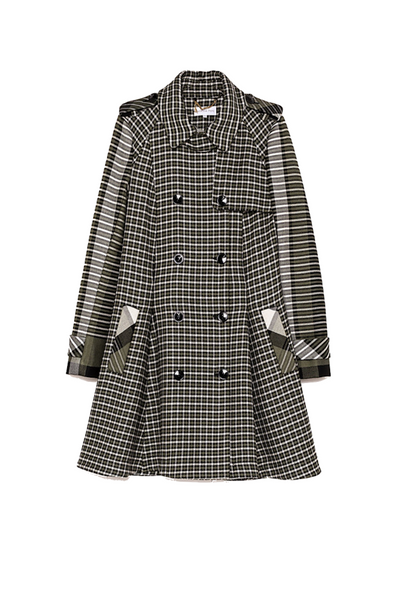 Patrizia Pepe | Tweed Trench Coat | AETERNASTYLE.COM