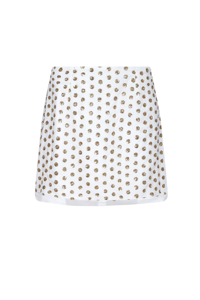 Finders Keepers Uk Stockists | Moonlight White Sequin Skirt | AETERNASTYLE.COM