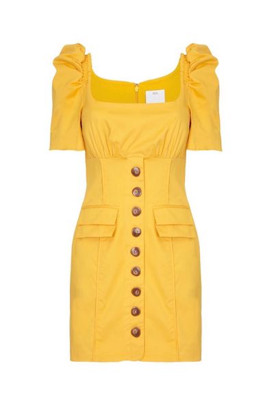 C/MEO Collective | Subscribe Yellow Dress | AETERNASTYLE.COM